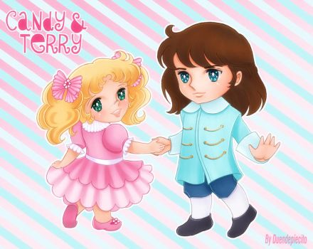 Candy  and Terry chibis by Duendepiecito