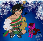 Christmas doodle ~ Kitty's 'Christmas Tree' by ChibiKirbylover