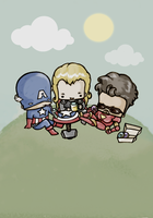 Avengers break by drwarumono