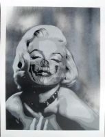 Marilyn Monroe Skull face by iStncLart
