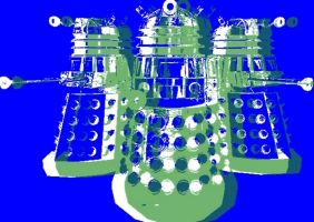 Doctor Who Pop Art The Daleks by TheGreatDevin