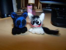 Wool Felting: Little Jeff the Kitty by GingaAkam