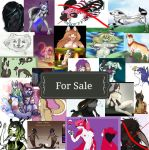 MANY MANY CHARACTERS FOR SALE! by kaylin540