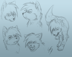 Rockfire sketches by AbsoluteDream