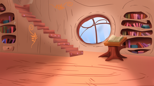 Ponyville Library Shaded by ikillyou121