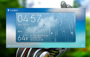 XperiaZ2 Accuweather UHD for xwidget by jimking