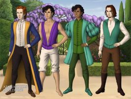 Disney Princes 3 Tudor Style by TFfan234