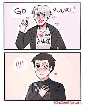 YOI: CHEERING FOR UR FIANCE by Randomsplashes