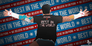CM Punk - Best In The World Vector by YeshuDave029