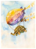 Floating Turtle by CheshFire