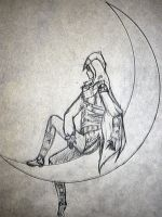 Ezio on the moon by brandy422