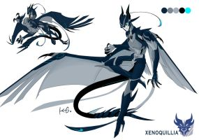 Xenoquillia (TFP oc Reference) by FeatheryDragon