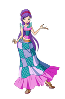 Winx Club Tine Linphea outfit by Forgotten-By-Gods