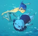 Joy x Sadness: swimming by catharticaagh