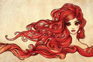 The Red Lady by aegia