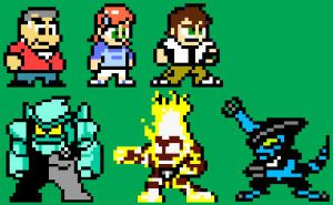 Megaman style Ben10 characters by Dice-K