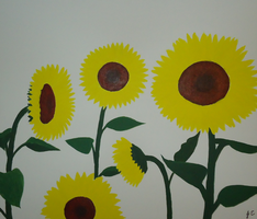 Sunflowers by miki-chaan