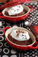 Chocolate pudding with whipped cream by kupenska
