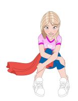 Supergirl sit by Tompach