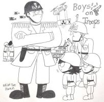 Steven and Dennis : Boys on Troops by komi114