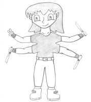 Character 1 - Darcy (emo girl with 4 arms) by RobotHellboy1114
