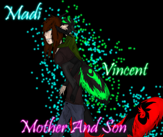 Madi and little Vincent by EmoBlackwolfgirl