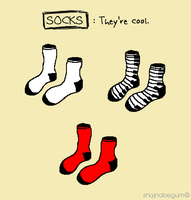 MS Paint Cool Socks by creativeoaf
