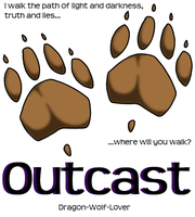 Outcast cover - READ DESCRIPTION by Dragon-Wolf-Lover