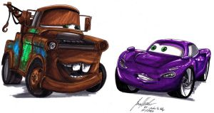 Mater and Holly - AT by Lowrider-Girl