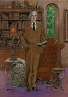 H.P. Lovecraft by Dubisch