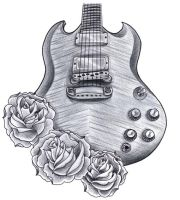 Gibson SG with roses by jerrrroen