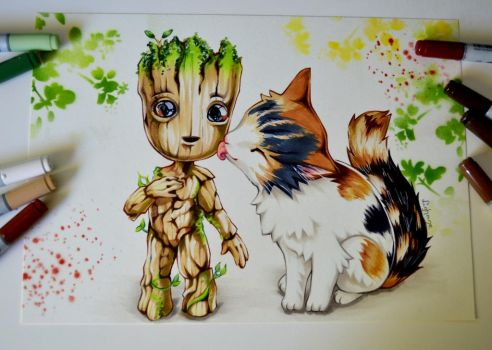 Groot found a new Friend! by Lighane