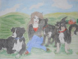 Self-Portrait with my Darlings by Miss-Whoa-Back-Off