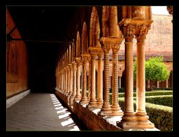 Colonnade In Garden Of The Monastery, Palermo 2 by skarzynscy
