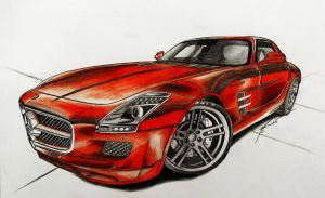 Mercedes SLS by smudlinka66