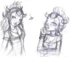 Another MH OC sketches by LilithIrina