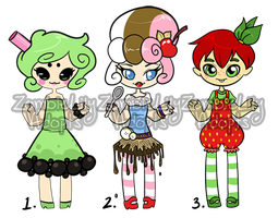 Comfort Food Adopts (CLOSED) by zombielily