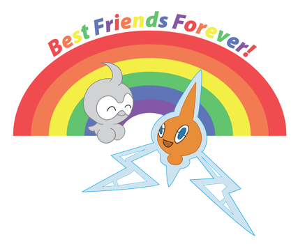 Castform and Rotom by VoodooMagic