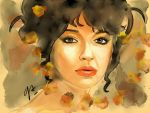 Kate Bush digital watercolor by AleRafa