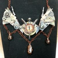 Steampunk Dragon Necklace by BeastSoul