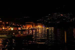 Lago di Lugano by night by wildplaces