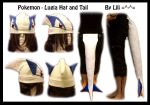 2nd Gen - Lugia Hat and Tail by LiliNeko