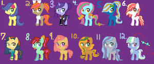 More Pony adopts! (Pony adopts 9) (OPEN!) by Shadowchaofan