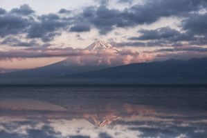 Muted Fuji Sunrise by arcreyes