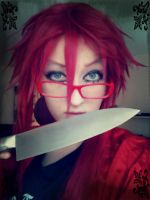 Grell- Don't mess with me by RainbowTigerPaws