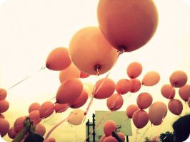 The Pink Balloons by surrealistique
