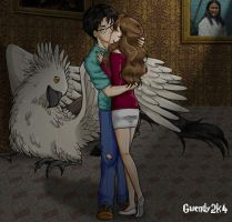 The Kiss in Buckbeak's Room by gwendy85