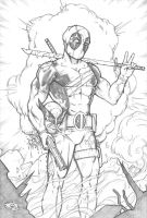 Deadpool Pencils by Carl-Riley-Art