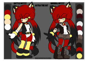 ++ASTRA THE CAT OUFIT REFERENCE SHEET++ by UnknownWarning