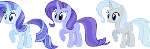 Rarity x Trixie adoptables CLOSED by Nutty-Nutzis